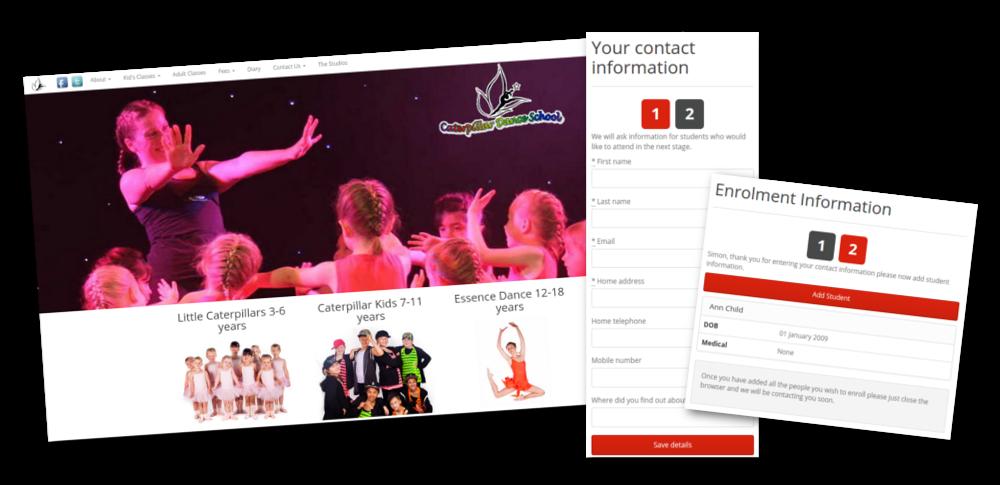 Big website slide cater